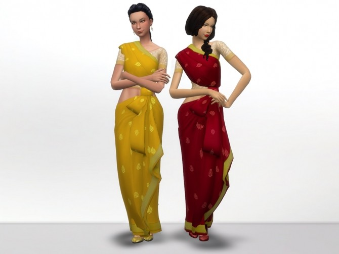 Kind of Saree by grindingteeth at Mod The Sims image 58 670x503 Sims 4 Updates