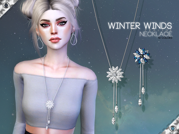 Winter Winds Necklace by Pralinesims at TSR image 580 Sims 4 Updates