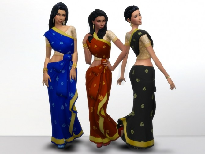 Kind of Saree by grindingteeth at Mod The Sims image 59 670x503 Sims 4 Updates