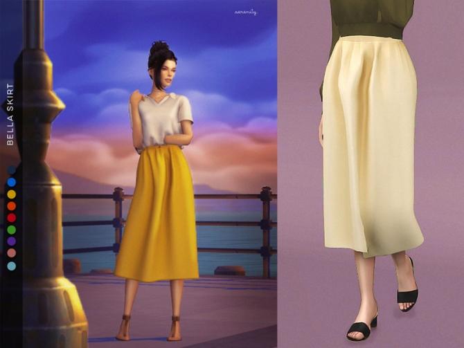 Bella Skirt By Serenity Cc At Tsr 187 Sims 4 Updates
