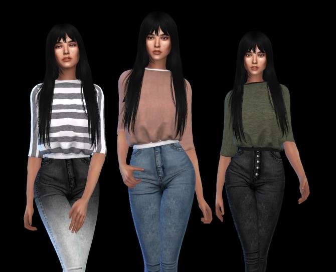 Sims 4 Maddie Sweater at Leo Sims
