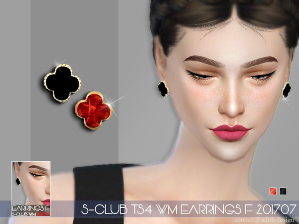 EARRINGS F 201707 by S Club WM at TSR image 597 Sims 4 Updates