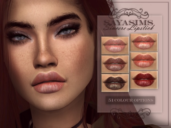 Sims 4 Sincere Lipstick by SayaSims at TSR