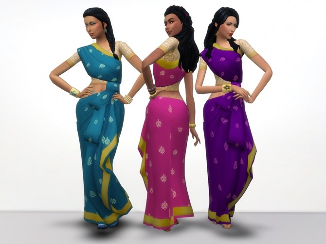 Kind of Saree by grindingteeth at Mod The Sims image 60 670x503 Sims 4 Updates