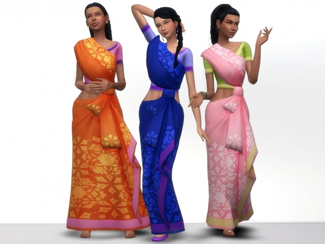 Kind of Saree by grindingteeth at Mod The Sims image 61 670x503 Sims 4 Updates
