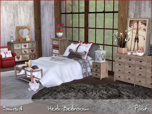 Heidi Bedroom by Pilar at TSR image 610 Sims 4 Updates