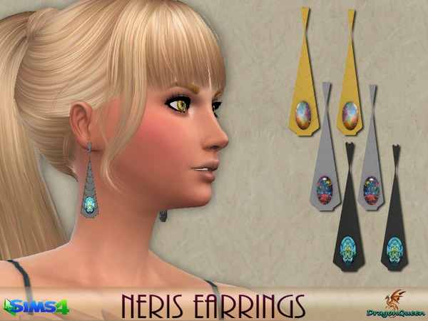 Neris Earrings by DragonQueen at TSR image 6114 Sims 4 Updates