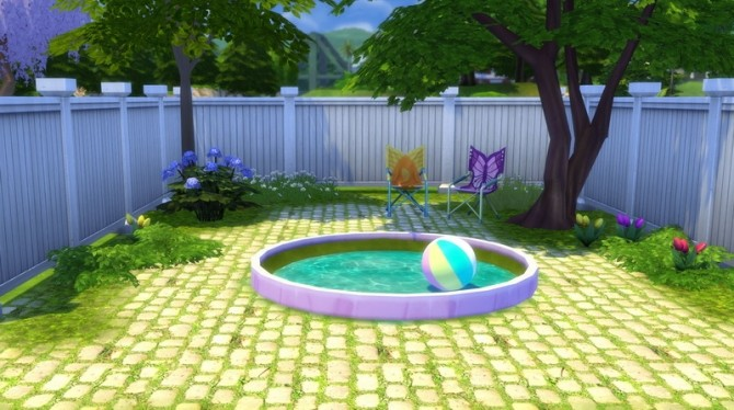 On the curve circular and oval flowerbeds reborn by for Pool design sims 4