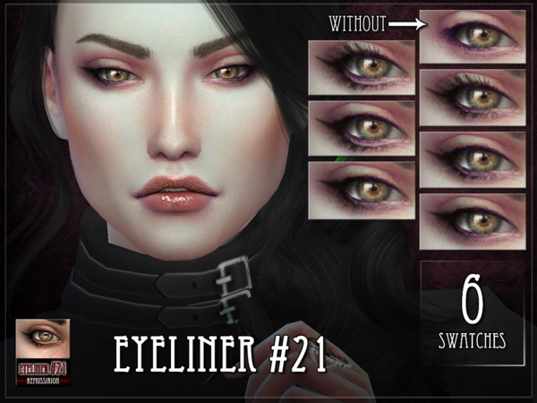 Sims 4 Eyeliner 21 by RemusSirion at TSR
