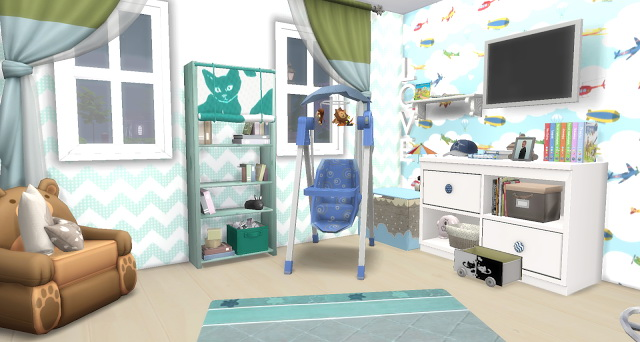 Sims 4 Sheldon toddler room at Pandasht Productions