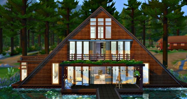 Sims 4 Lake House at Lilly Sims