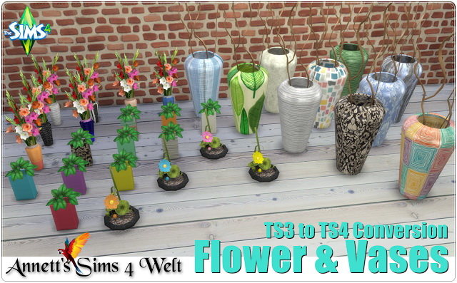 Flower & Vases TS3 to TS4 Conversion at Annett's Sims 4 Welt image 649 Sims 4 Updates