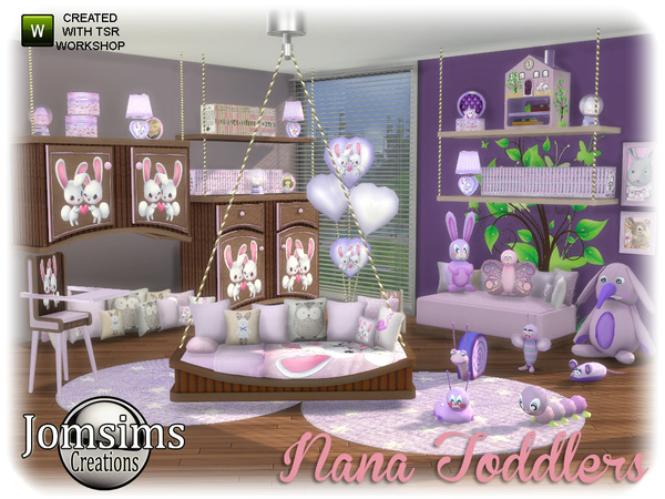 Nana toddlers bedroom by jomsims at TSR image 650 Sims 4 Updates