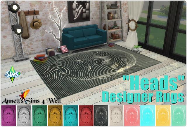 Sims 4 Designer Rugs Heads at Annett's Sims 4 Welt