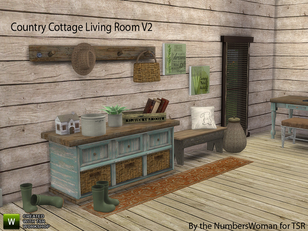 Sims 4 Country Cottage Living V2 by TheNumbersWoman at TSR