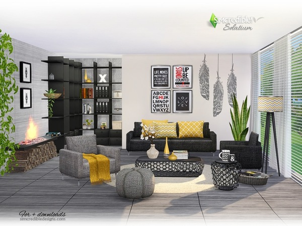 Solatium living room by SIMcredible at TSR image 670 Sims 4 Updates