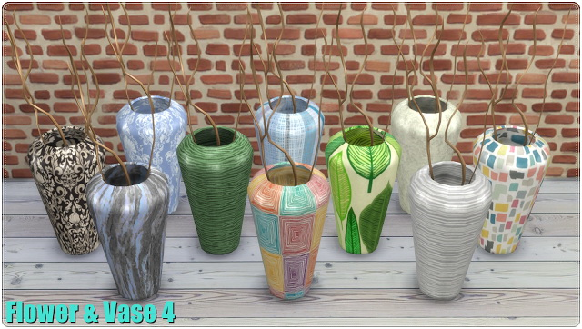 Sims 4 Flower & Vases TS3 to TS4 Conversion at Annett's Sims 4 Welt