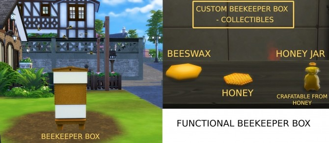 Functional Beekeeper Box by icemunmun at Mod The Sims image 6810 670x292 Sims 4 Updates