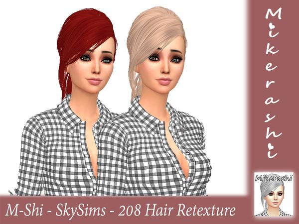 Sims 4 SkySims 208 Hair Retexture by mikerashi at TSR