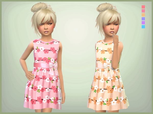 Floral Summer Dress by SweetDreamsZzzzz at TSR image 687 Sims 4 Updates
