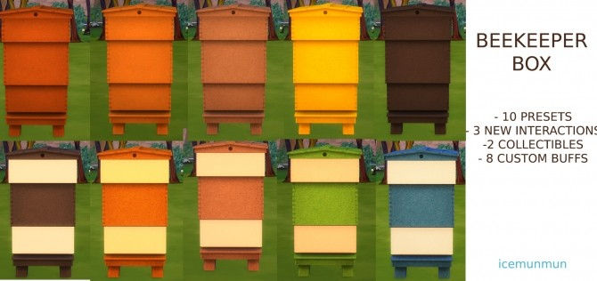 Functional Beekeeper Box by icemunmun at Mod The Sims image 6910 670x316 Sims 4 Updates