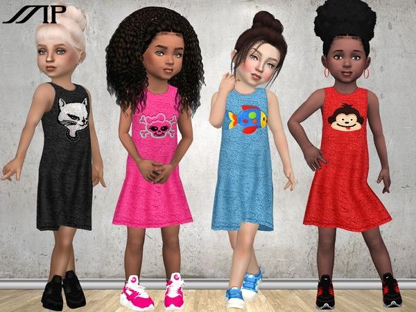 Sims 4 MP Toddler Summer Dress N1 by MartyP at TSR