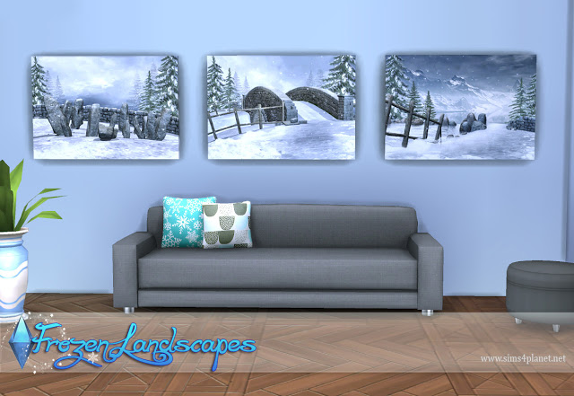 Frozen Landscapes Paintings by Lorelea at Anarchy Cat image 7010 Sims 4 Updates