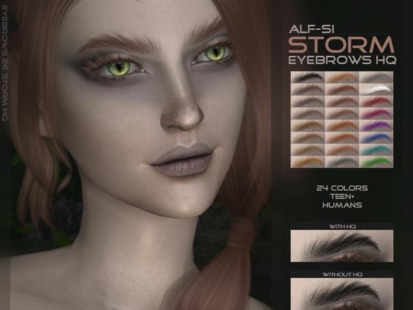 Sims 4 Storm Eyebrows HQ by Alf si at TSR