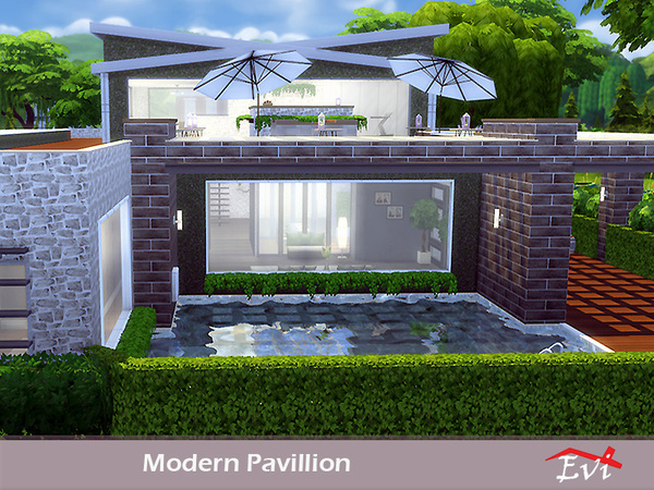 Modern Pavillion by evi at TSR image 706 Sims 4 Updates