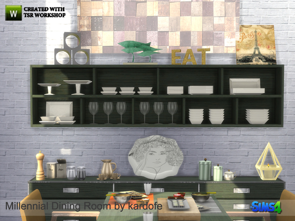 Millennial Dining Room by kardofe at TSR image 7100 Sims 4 Updates