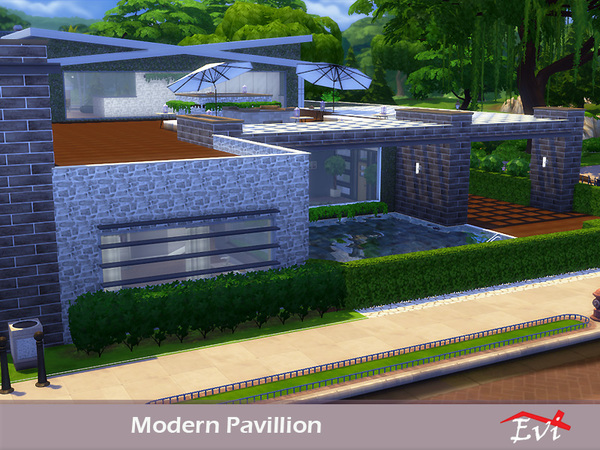 Modern Pavillion by evi at TSR image 7111 Sims 4 Updates