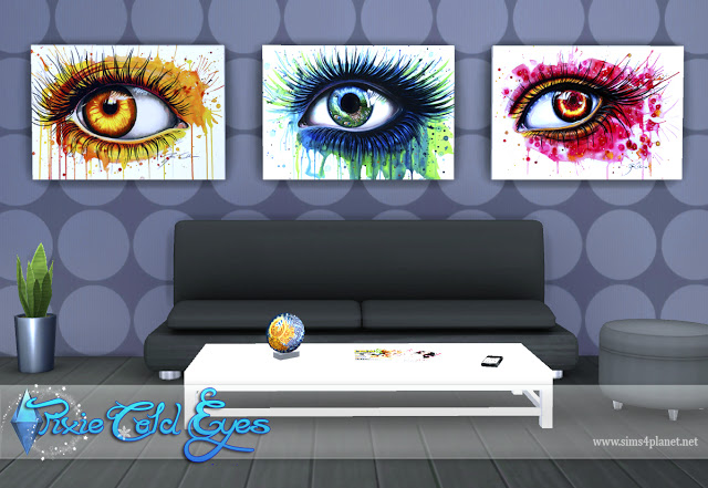 Pixie Cold Eyes Paintings by Lorelea at Anarchy Cat image 7114 Sims 4 Updates