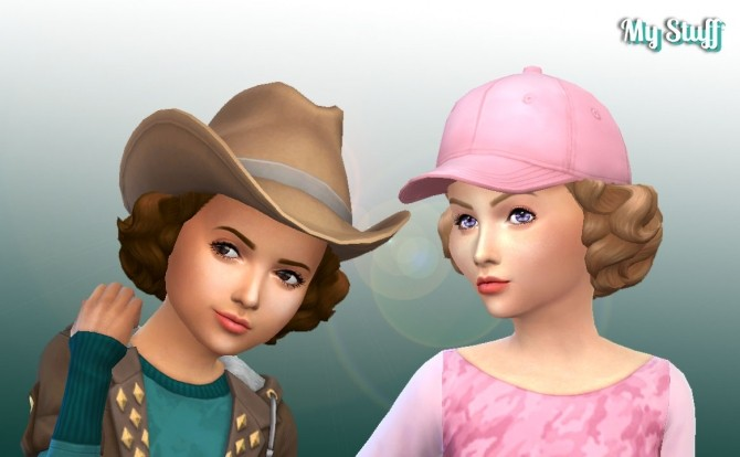 Sims 4 Lovely Curls for Girls at My Stuff