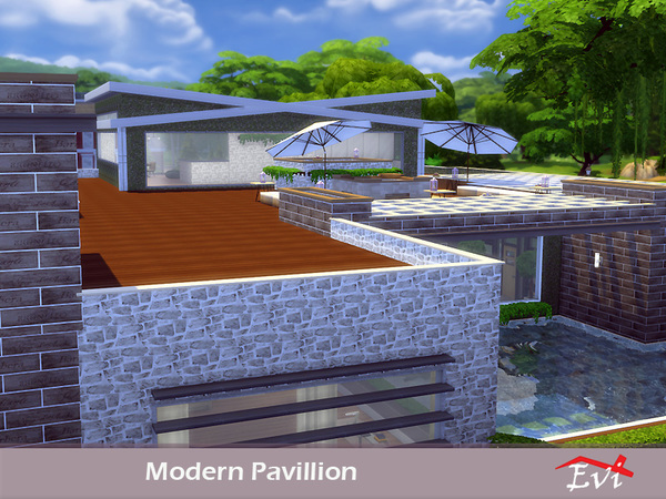 Modern Pavillion by evi at TSR image 728 Sims 4 Updates