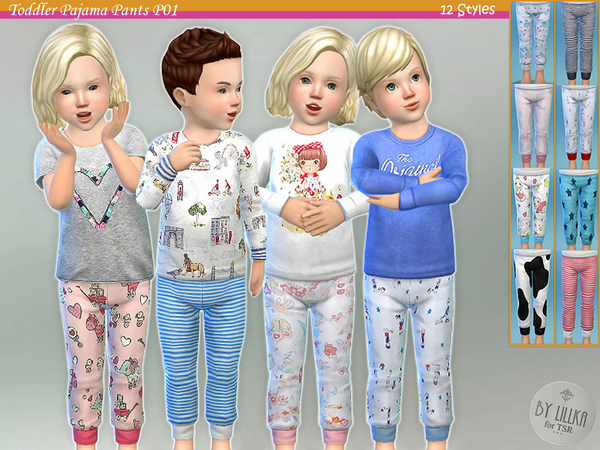 Toddler Pajama Pants P01 by lillka at TSR image 730 Sims 4 Updates