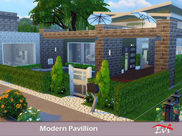 Modern Pavillion by evi at TSR image 737 Sims 4 Updates
