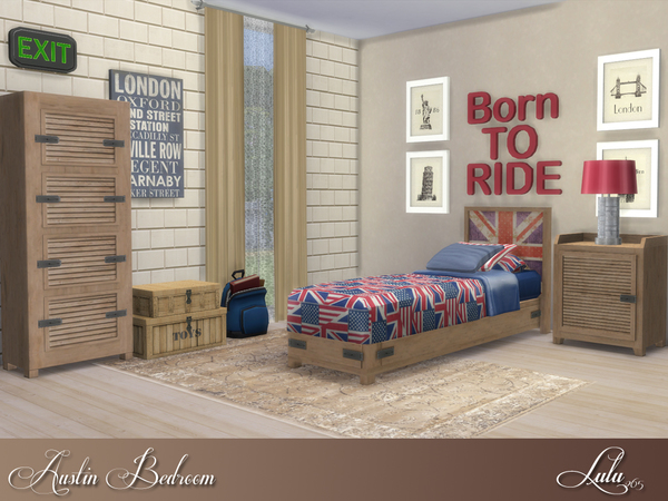Austin Bedroom by Lulu265 at TSR image 740 Sims 4 Updates