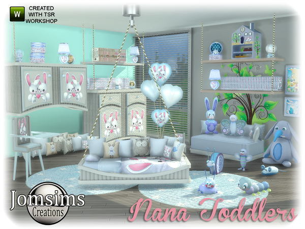 Nana toddlers bedroom by jomsims at TSR image 750 Sims 4 Updates