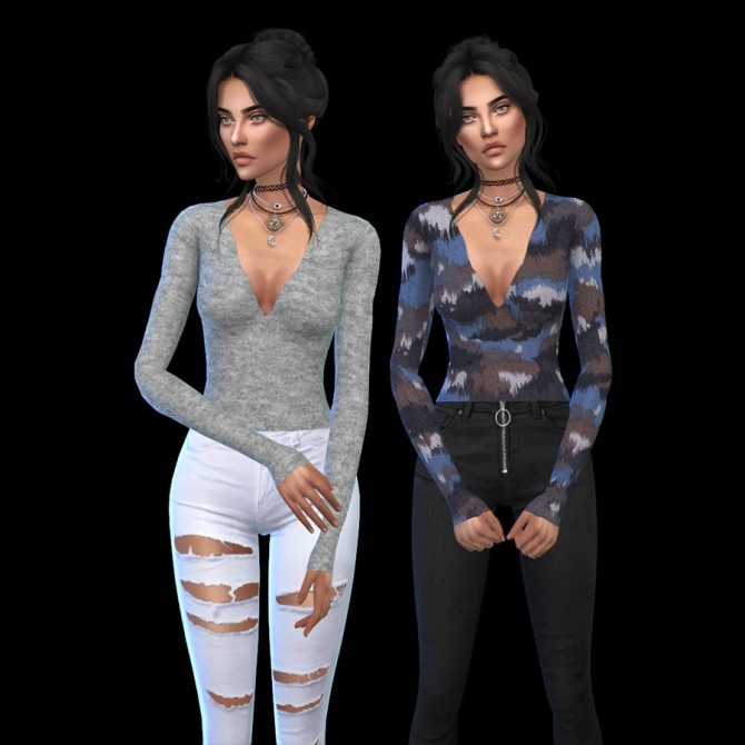 Sims 4 Margeh Crop Top at Leo Sims