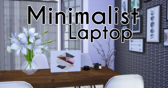 Minimalist Laptop at Mony Sims image 7611 Sims 4 Updates
