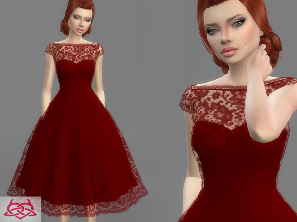 Sims 4 Wedding Dress 5 by Colores Urbanos at TSR