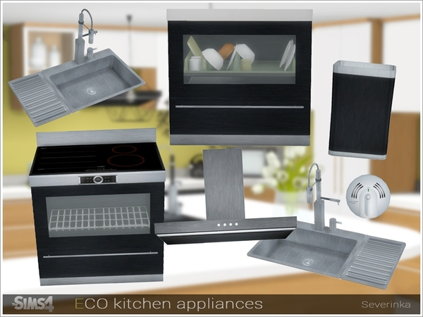 ECO kitchen appliances by Severinka at TSR image 768 Sims 4 Updates