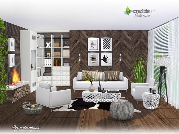 Solatium living room by SIMcredible at TSR u00bb Sims 4 Updates