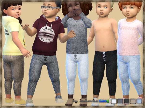 Sims 4 Pants Toddler f/m by bukovka at TSR