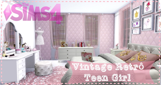 Vintage Retrô Teen Girl Bedroom at Lily Sims image 796 Sims 4 Updates