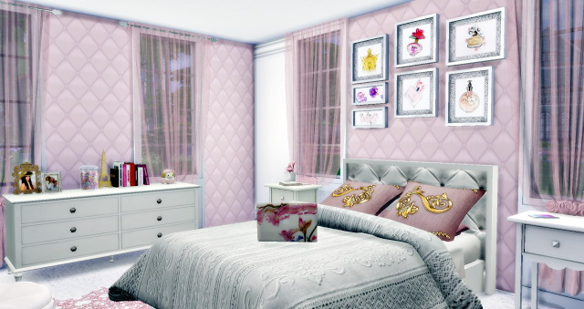 Vintage Retrô Teen Girl Bedroom at Lily Sims image 806 Sims 4 Updates