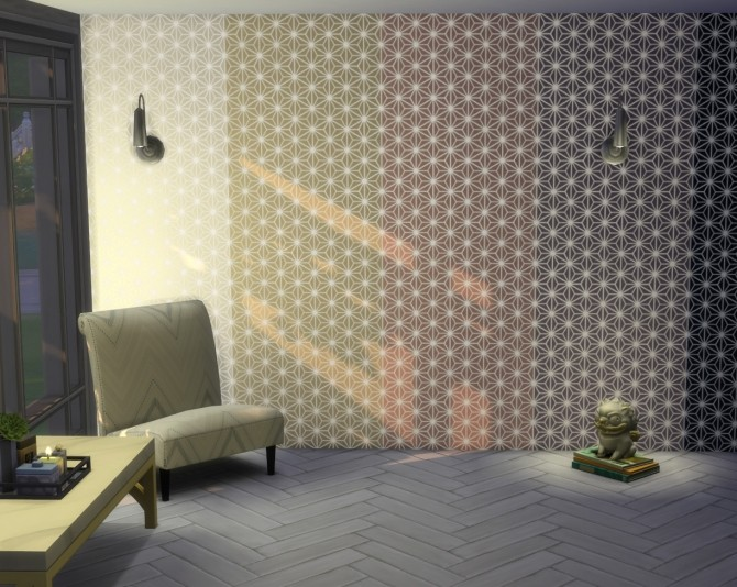 Sims 4 Asanoha geometric wallpaper by Velouriah at Mod The Sims