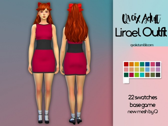 Sims 4 Lirael Outfit at qvoix – escaping reality