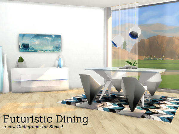 Futuristic Dining by Angela at TSR image 816 Sims 4 Updates