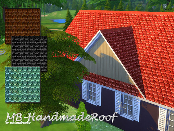 MB Handmade Roof by matomibotaki at TSR image 8218 Sims 4 Updates